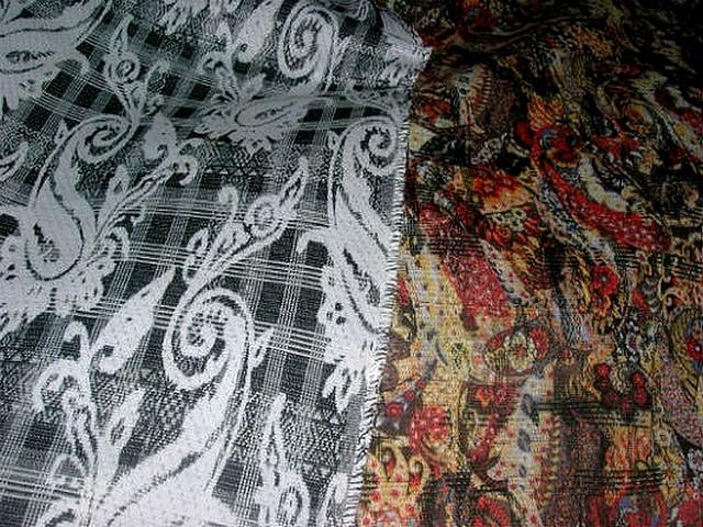 Coton reversible cachemire noir blanc et couleur 1