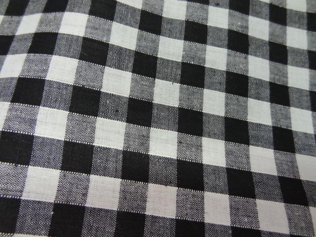 Coton vichy noir blanc en coton 2