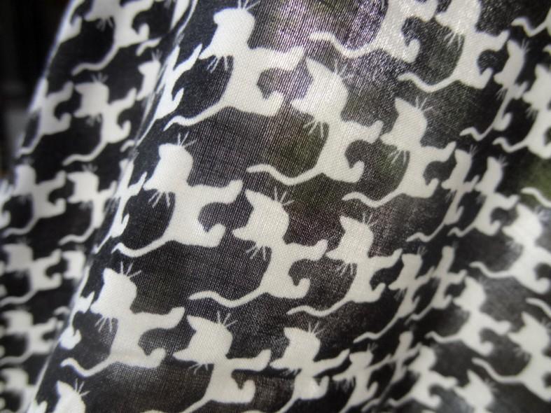 Coton viscose blanc noir p tits chats 4