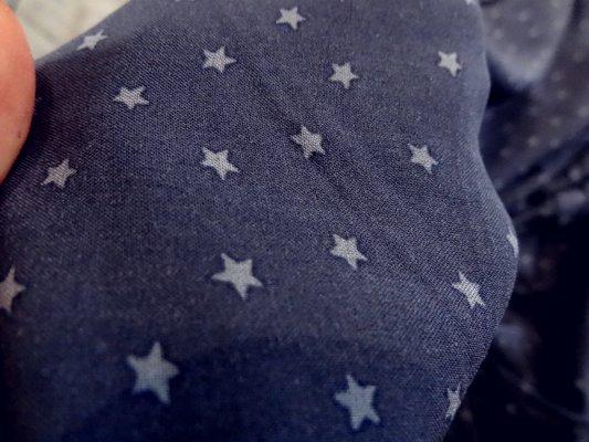 Coton viscose bleu marine étoilé 03