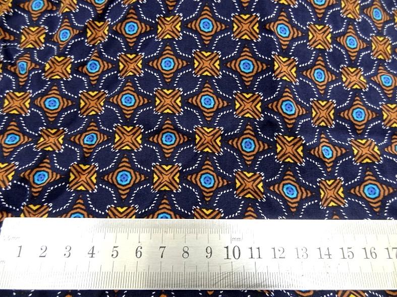 Coton viscose bleu nuit motif lumineux 1