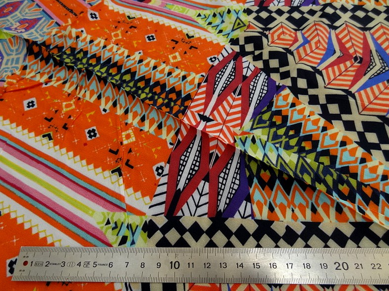 Coton viscose couleurs vives ethnique 1
