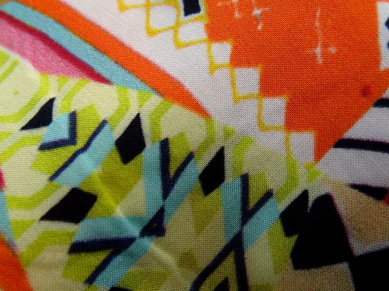 Coton viscose couleurs vives ethnique 2
