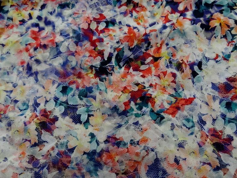 Coton viscose fleuri bleute 2