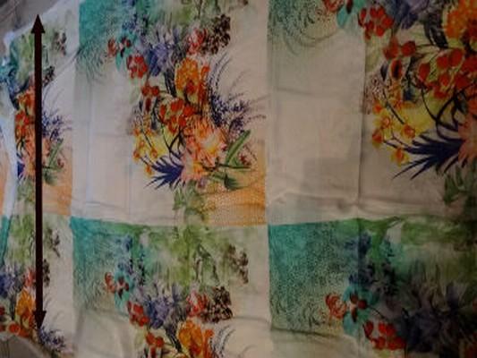 Coton viscose grand patchwork fleuri 01