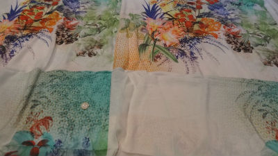Coton viscose grand patchwork fleuri 02