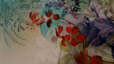 Coton viscose grand patchwork fleuri 03