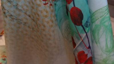 Coton viscose grand patchwork fleuri 05