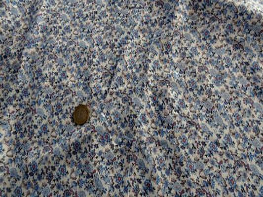 Coton viscose imprimé liberty ton bleu01