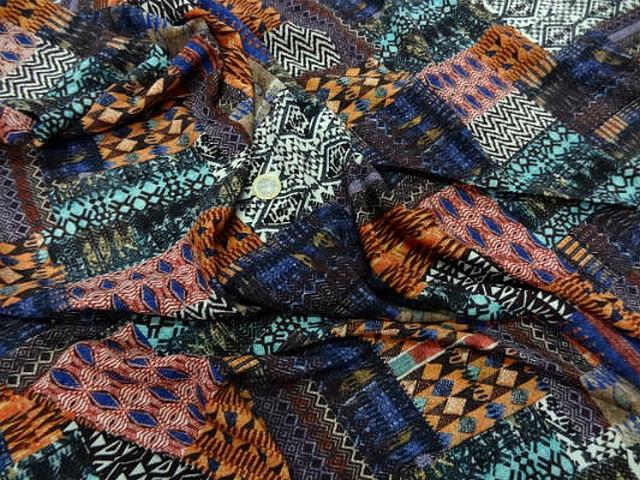 Coton viscose imprime patchwork9