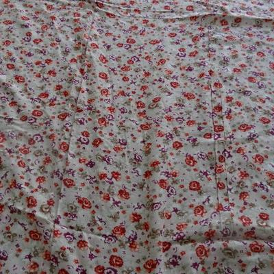 Coton viscose liberty violet rose orange 1
