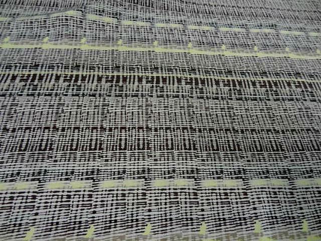 Coton viscose motif rayures abstraites 1