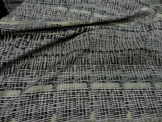 Coton viscose motif rayures abstraites 2