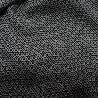 Coton viscose noir motif petit hexagone 3