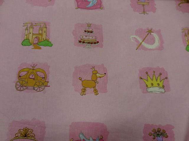 Cotonnade motif panoplie de princesse 1