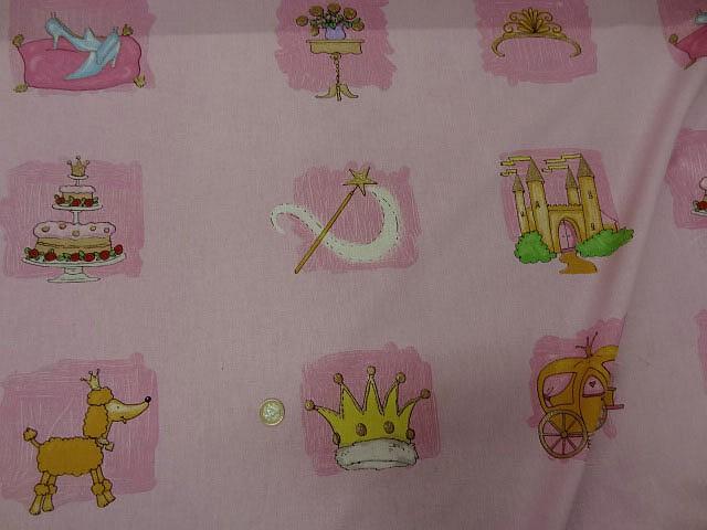 Cotonnade motif panoplie de princesse 2