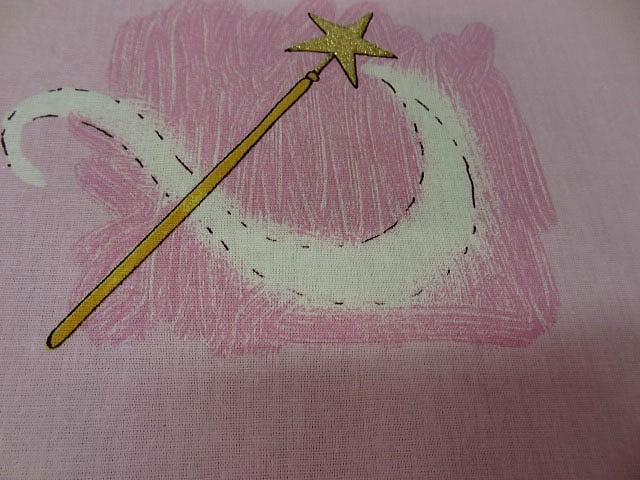 Cotonnade motif panoplie de princesse 3
