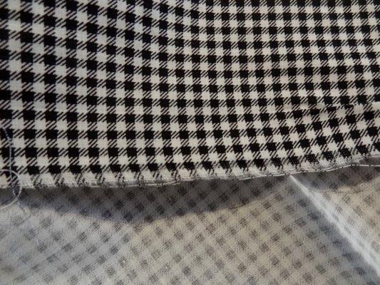 Cotonnade petit vichy blanc-noir 02