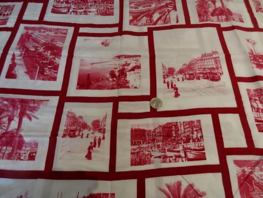 Coton viscose cadre cartes postales 01
