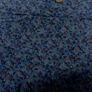 coton viscose bleu imprimé liberty fuschia 0