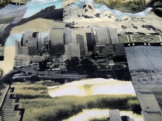 gabardine coton imprimé motifs USA 0