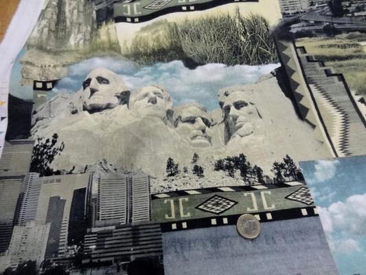 gabardine coton imprimé motifs USA 2