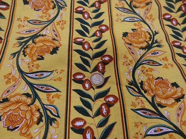 Coupon de tissu provencal jaune