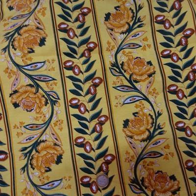 Coupon de tissu provencal jaune6