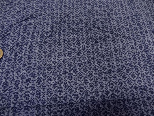 viscose imprimé tons bleus 4