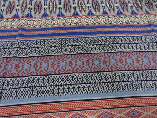 jersey coton lycra frises rouge-blanc-bleu