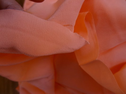 Crêpe de soie capucine orange 03