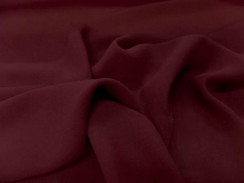 Crepe de soie tres fin bordeaux 3