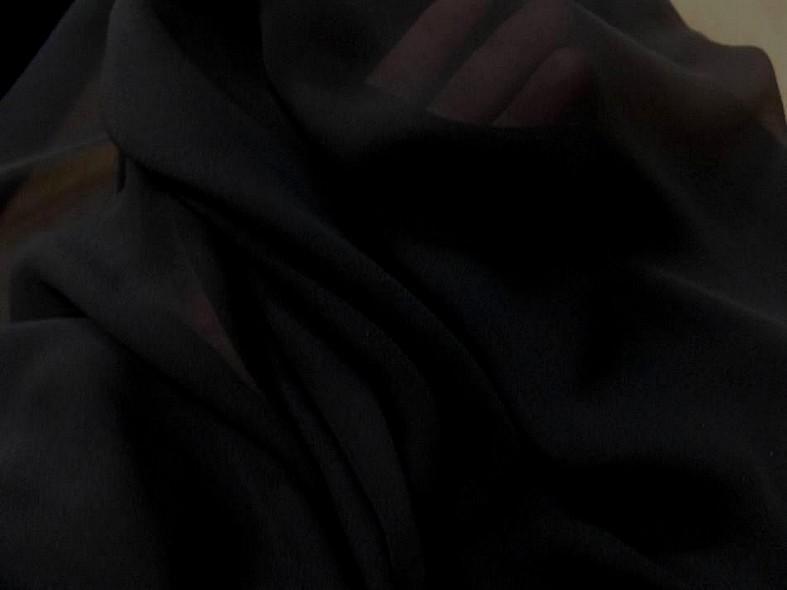 Crepe de soie tres fin noir 2