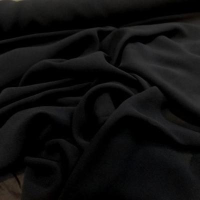 Crepe de soie tres fin noir 3