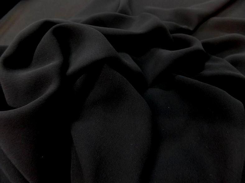 Crepe de soie tres fin noir 4