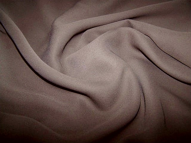 Crepe polyester chataigne 1 1