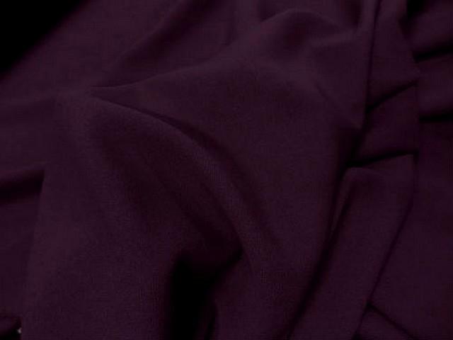 Crepe polyester lie de vin 2