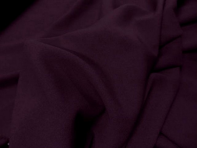 Crepe polyester lie de vin 3