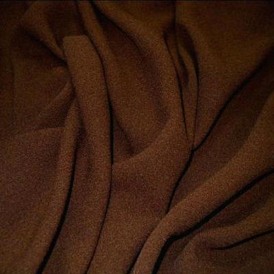 Crepe polyester marron caramel