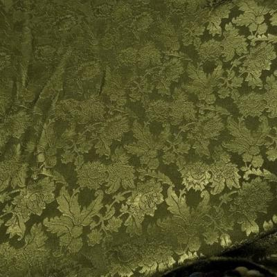 Crepe satin kaki motifs classiques vert tilleul 1 1