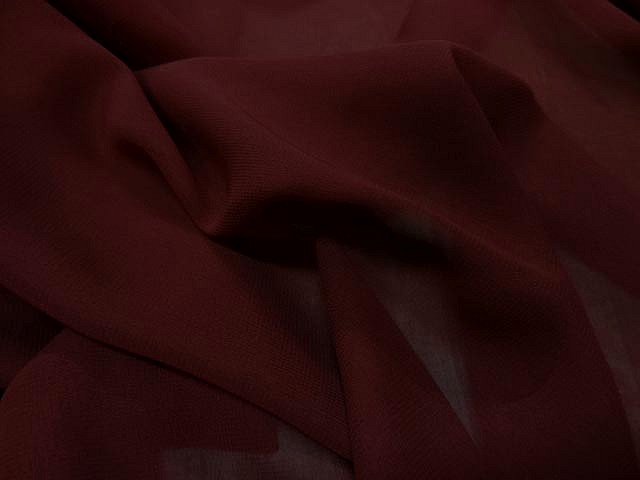 Crepe viscose rouge sang 1