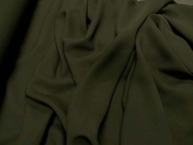 Crepe viscose vert kaki 1