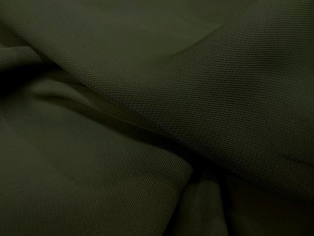 Crepe viscose vert kaki 2