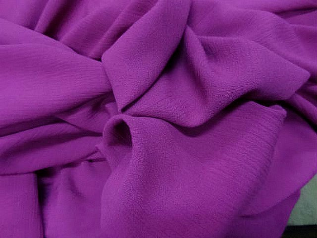 Crepon coton rose violace fuchsia