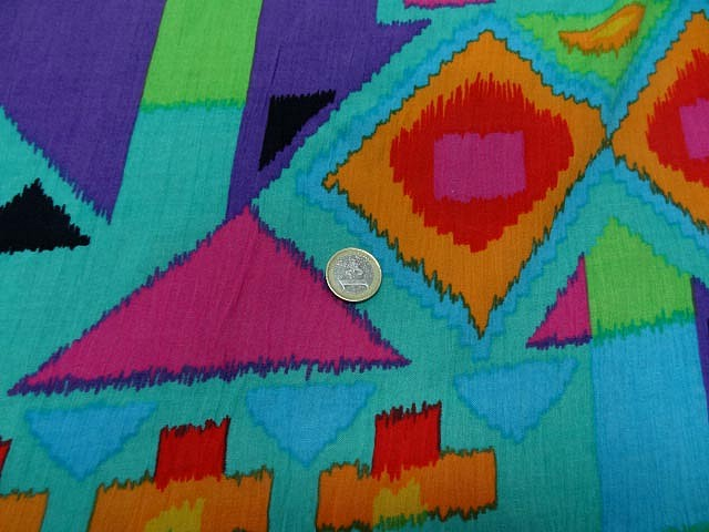 Crepon turquoise imprime9