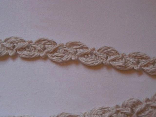 Croquet calisson en coton teinte ficelle 2