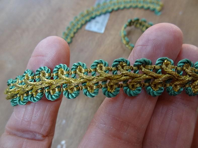 Croquet epi de ble or et vert