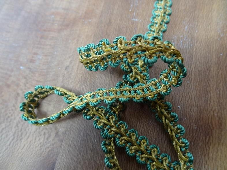 Croquet epi de ble or et vert 1