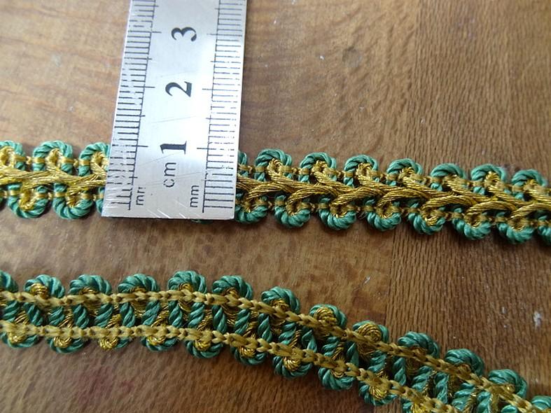 Croquet epi de ble or et vert 2