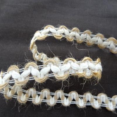 Croquet lin blanc casse et ecru 1